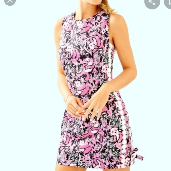 Lilly Pulitzer NWT Little Lilly Classic Shift Hibiscus Pink Hangin With My Boo
